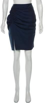 Balenciaga Ruched Knee-Length Skirt