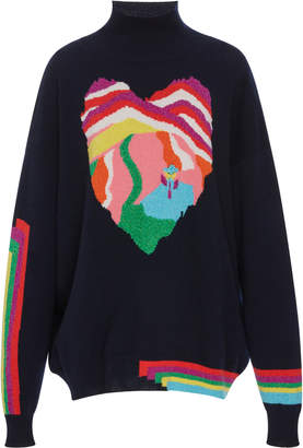 Barrie Dream in Space Intarsia Cashmere Turtleneck Sweater