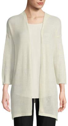 Eileen Fisher Organic Linen/Tencel Open Cardigan