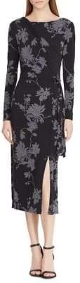 Lauren Ralph Lauren Connie Ruched Midi Dress