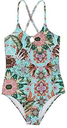 OndadeMar Kids' Amazonia Floral Tank Swimsuit