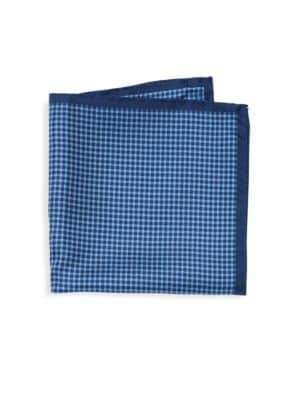 Checkered Silk Pocket Square