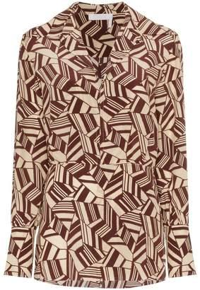 Chloé geometric print silk shirt