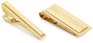 the Gift Men's Tie Bar & Money Clip Set