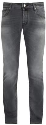 Jacob Cohen Slim Fit Mid Rise Jeans - Mens - Grey