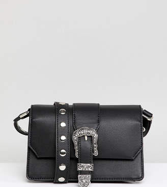 Glamorous Black Cross Body Bag With Western Buckle