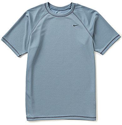Nike Short-Sleeve Solid Rashguard Tee