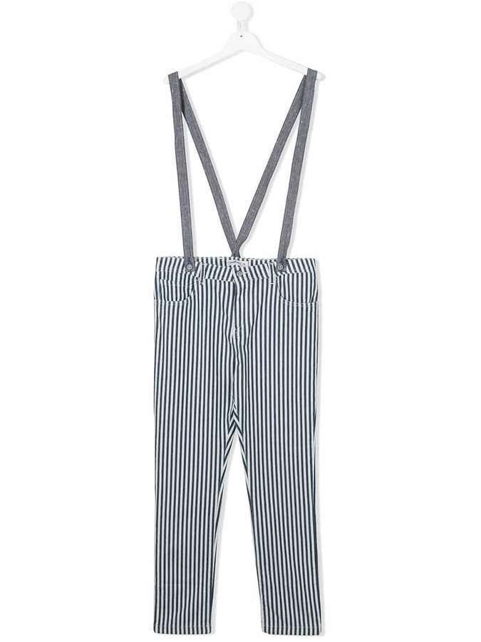 Manuel Ritz Kids Teen striped jeans with braces