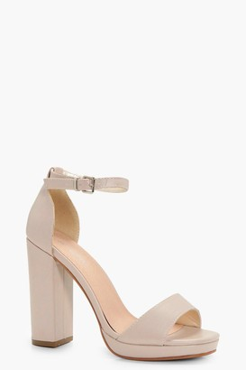 boohoo Laurie Wide Fit Platform Block Heels