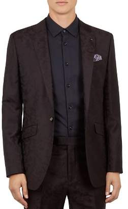 Ted Baker Pashion Camo-Jacquard Slim Fit Wool Jacket