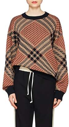 Dries Van Noten Women's Geometric-Pattern Wool-Blend Oversized Sweater