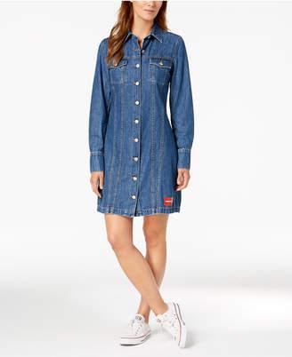 Calvin Klein Jeans Long-Sleeve Cotton Denim Dress