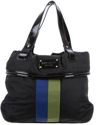 Kate SpadeKate Spade New York Patent Leather-Accented Nylon Tote