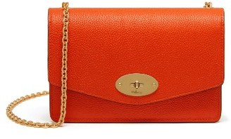 Mulberry Small Darley Lock Leather Clutch - Orange $725 thestylecure.com