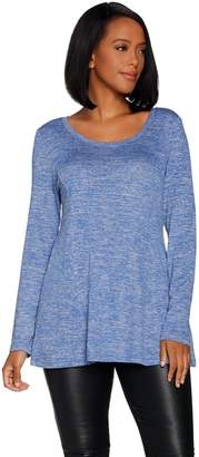 Halston H By H by Super Soft Knit Long Sleeve Swing Tunic
