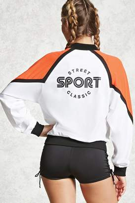 Forever 21 Active Colorblock Bomber Jacket