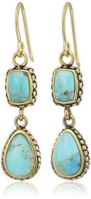Barse Bronze and Multi-Shape Drop Earrings