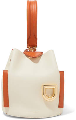 Danse Lente Josh Smooth And Textured-leather Bucket Bag - White