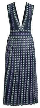 M Missoni Women's Lurex Midi Dress - Blue - Size 38 (2)