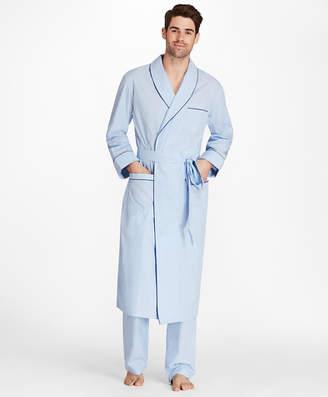 Brooks Brothers Sidewheeler Gingham Robe