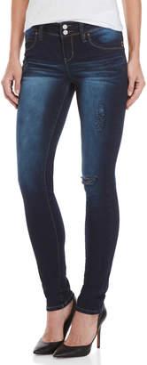 YMI Jeanswear Dark Wash Distressed Skinny Jeans