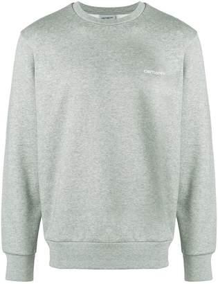 Carhartt logo embroidered sweatshirt