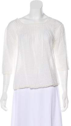The Great Lightweight Semi-Sheer Blouse