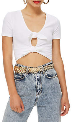 Topshop TALL Double Knot Crop Top