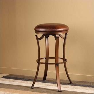 "Hillsdale Furniture Kelford 30"" Backless Swivel Bar Stool in Antique Bronze"