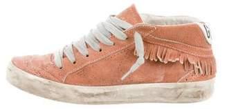 Golden Goose Fringe Mid Star Sneakers