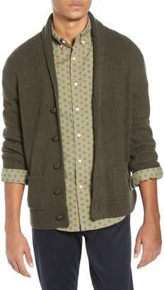 J.Crew Rugged Merino Wool Blend Shawl Collar Cardigan Sweater