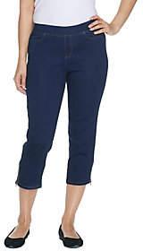 Denim & Co. Petite Soft Stretch Pull-On-IndigoCrop Jean