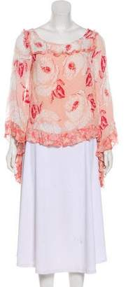 By Ti Mo byTiMo Abstract Print Ruffled Top