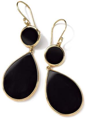 Ippolita 18K Gold Polished Rock Candy Two-Drop Snowman Earrings