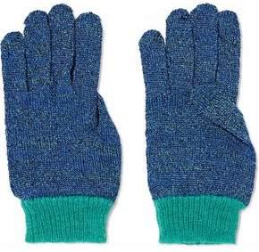 Missoni Metallic Crochet-Knit Gloves
