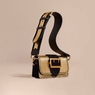 Burberry The Small Buckle Bag in Metallic Leather and Suede $1,295 thestylecure.com