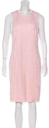Karl Lagerfeld Laser Cut Sleeveless Knee-Length Dress
