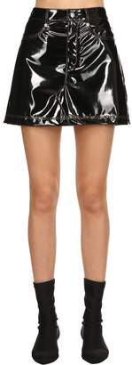 Sonia Rykiel Faux Patent Leather Skirt