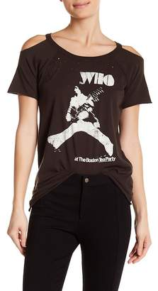Chaser The Who Cold Shoulder Jersey Tee