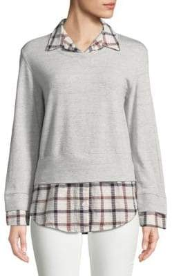 Monrow Flannel Sweatshirt