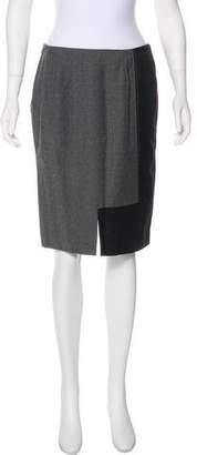 Valentino Wool & Cashmere Knee-Length Skirt
