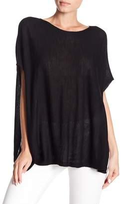 Eileen Fisher Bateau Neck Oversized Knit Blouse