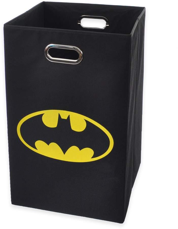 Modern Littles Batman Folding Laundry Bin in Black