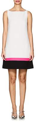 Lisa Perry Women's Colorblocked-Hem Wool Crepe Shift Dress