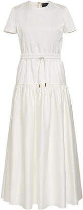 Brandon Maxwell Drawstring Cotton Dress