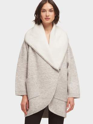 DKNY Oversized Cocoon Cardigan With Hood