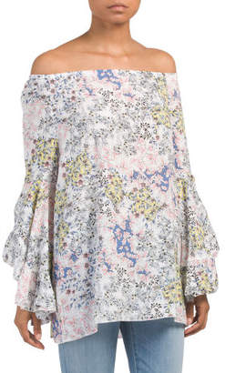 Printed Blouse With Flowy Sleeve