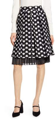 Halogen x Atlantic-Pacific Heart Jacquard Skirt