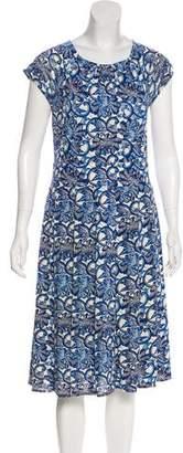 Tory Burch Printed Silk Midi Dress