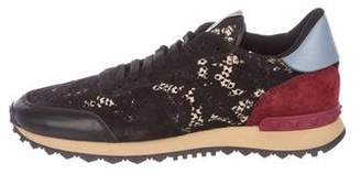 Valentino Rockrunner Suede Sneakers